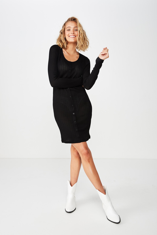 ... Henry Long Sleeve Button Through Mini Dress 5d1573153