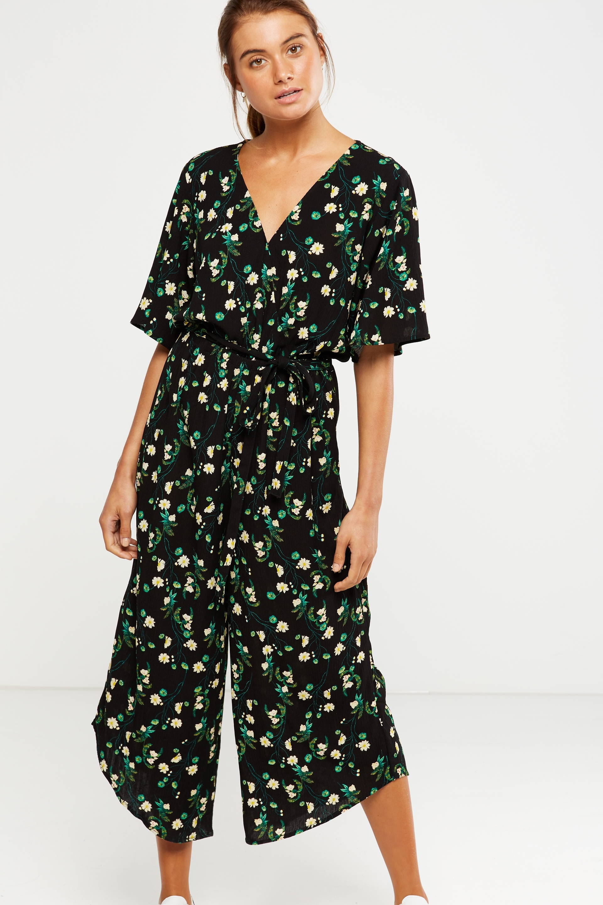 67853ad70b9 Cotton On Women - Woven Angel Jumpsuit - Daisy floral black