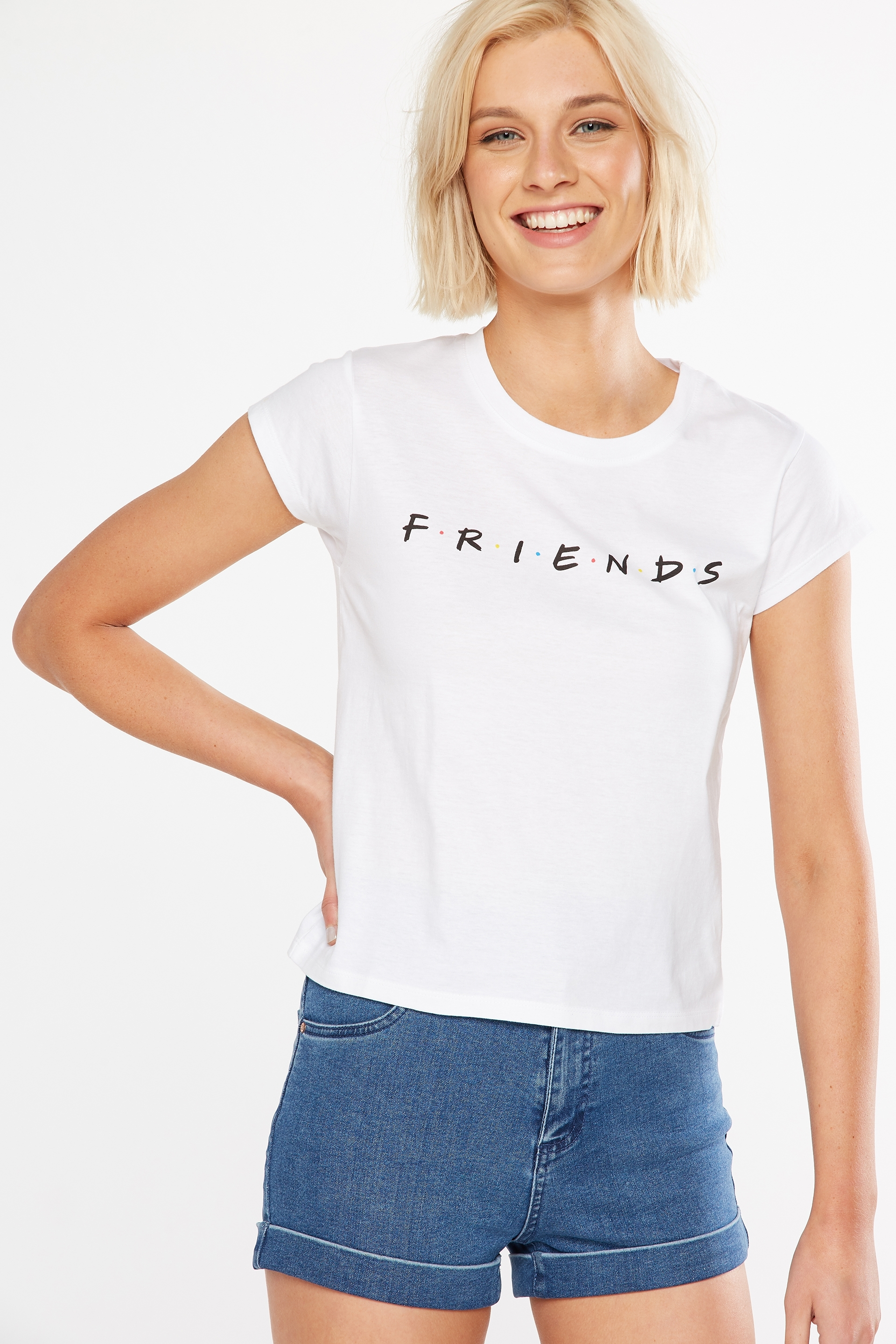 b2565a8fb Tbar Rachael Graphic Tee Shirt, LCN FRIENDS/WHITE