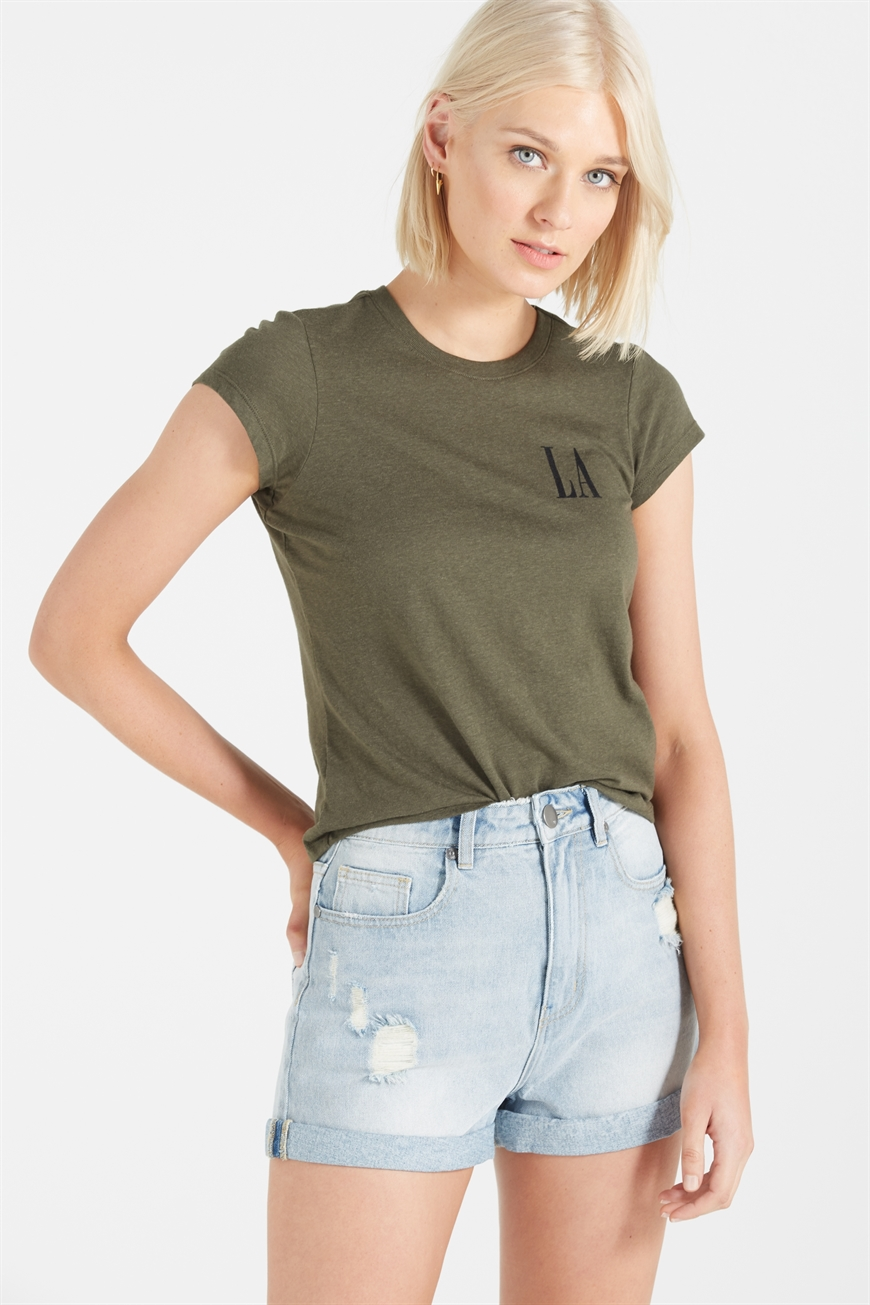 c2ebef6ab Cotton On Women - Tbar Friends Graphic Tee - La/enchanted green