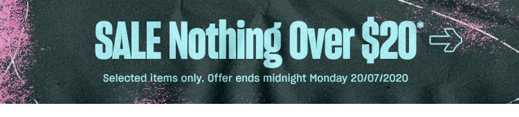 Nothing over $20, Shop Now