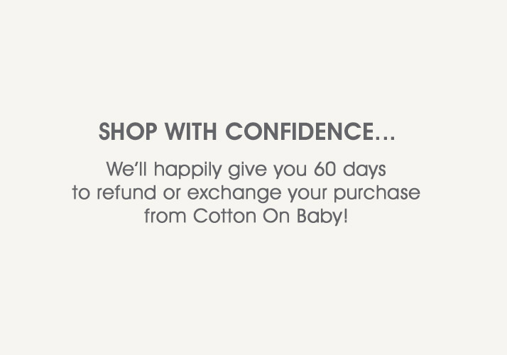 Cotton On Baby Shop With Confidence